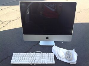 """Apple iMac A1225 2007 24"""" All-in-One Computer wiped clean working"""