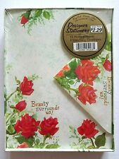 Vintage Stationary Set English Cards Ltd. Roses 15 Sheets 8 Envelopes Boxed New
