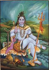 Lord Mahadev Shiva Art Handmade Hindu Indian Spiritual Miniature Ethnic Painting