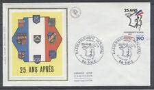 FRANCE FDC - 2481 1 RASSEMBLEMENT DES PIEDS NOIRS - 27 Juin 1987 - LUXE sur soie