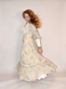 ~*VINTAGE YOUNG INNOCENT by ARPEJA HIPPIE PATCHWORK CORSET DRESS Sz 13~*