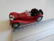 jaguar cabriolet  modele SS 100 rouge - solido