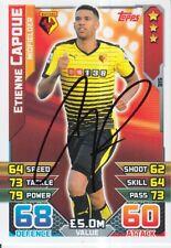 Etienne capoue Firmato a Mano Watford Match Attax Scheda 15/16.