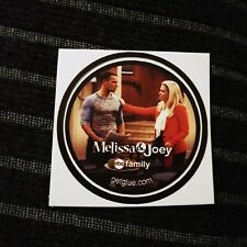 "MELISSA & JOEY LAWRENCE MELISSA JOAN TV SMALL 1.5"" GETGLUE GET GLUE STICKER"