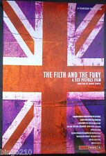 THE FILTH AND THE FURY ORIGINAL 1 SHEET POSTER SEX PISTOLS PUNK JULIAN TEMPLE
