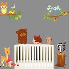 Animal Wall Stickers Owl Jungle Deer Tree Nursery Baby Room Vinyl Decal Kids Art