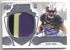 BISHOP SANKEY 2014 EXQUISITE COLLECTION PATCH RC AUTO 038/110 TENNESSEE TITANS