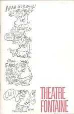 REVUE ENTRACTE N°18. PROGRAMME LES 3 JEANNE de BOERI, THEATRE FONTAINE 1981
