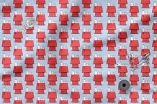 "Printed cotton 100% Eco-print ""Snoopy"" #5, Printed Fabric"