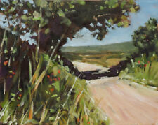 Countryside Road in Provence - Impressionist, Landscape, Oil Painting, Art