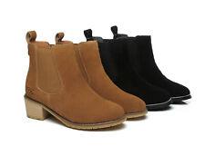AS UGG Boots Sylvia Ladies Fashion Slip On Heels Australian Sheepskin Wool