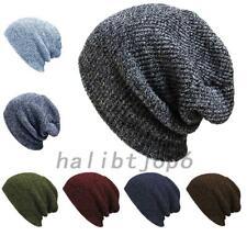 Slouchy Large Hand Knit Unisex Hip Hop Women Men Beanie Ski Baggy Hat Winter Cap
