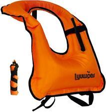 Lyuwpes Inflatable Snorkel Vest Snorkeling Jackets Vests Free Diving Swimming S
