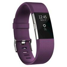 Fitbit Charge 2 Activity Tracker + Heart Rate + *Large Plum Fitness Wristband*