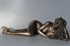 frau,akt,bronziert,23x9cm,figur,erotik,statue,frauenakt,polyresin,liegend