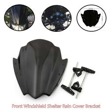 Black Universal Motorcycle Windbreak Plate Front Windshield Shelter Rain Cover