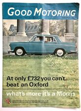 GOOD MOTORING JANUARY 1965 - MORRIS OXFORD COVER, Singer Chamois - Vintage Mag *