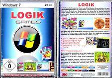 Logik Games für Windows 7 - PC-Spiel   Spielesammlung Neu & OVP