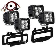 RIGID Fog Light Kit w/ D-Series PRO LED Lights for 10-17 Dodge Ram 2500 3500