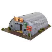 1/64 Scale HO Gauge Quonset Hut Photo Real Scale Building Kit Miniature Scenery