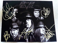 Pop Evil Signed 8x10 Photo Signed by Entire Band Leigh Kakatty Dave Grahs