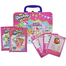 Shopkins Food Tin Lunch Box Carry All Gift Case Storage Bag w/ 2pk card game Toy