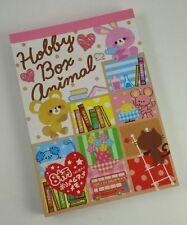RARE Crux Japan Hobby Box Animal Book Shelf Large Memo Pad Stationery Kawaii