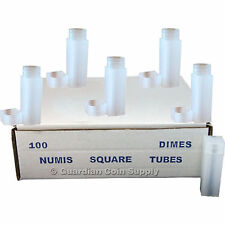 Numis Brand  Dime Square Coin Tubes 5 pack - Coin Supplies