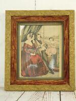 Picture Frame Antique Gold Gilt Wood & Gesso Velvet Ornate Victorian 14x12 Inch