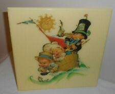 "New listing Vintage Nursery Wall Decor - Three Men in a Tub - Baby 8.5"" Sq.- Dolly Toy Co."