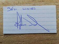 More details for steve nicol liverpool legend hand-signed index card