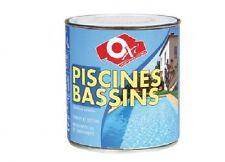 PEINTURE PISCINE BASSIN 0.5L BLANC OXI compatible eau chlorée eau de mer