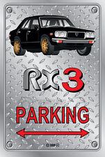Parking Sign Metal MazdA RX3 4-door-16 - Checkerplate Look
