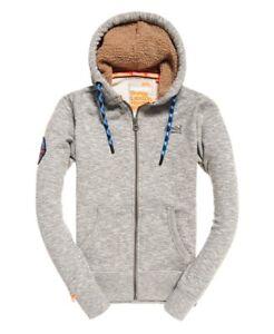 Superdry Men's Orange Label Mountain Zip Hood Sweat Jacket Storm Grey Grit
