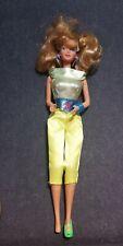 1987 Sensations Bopsy Barbie doll yellow Green jumpsuit with Earrings and bracel