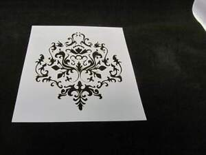 STENCIL Damask Pattern Vintage Floral Airbrush Mylar Durable L146 Made USA *_*