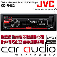 JVC KD-R482 CD MP3 USB Aux In Android Car Stereo Radio Player Red Colour Display