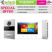 """Home IP Video Intercom System Kit POE Indoor Outdoor Villa Station Doorbell 7"""""""