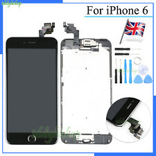 For iPhone 6 Plus LCD Screen Display Touch Digitizer Home Button Camera Black UK