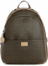 NEW GUESS Factory Women's Simmons Brown Logo Print Backpack Handbag Purse