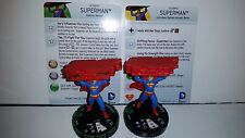 DC Heroclix World's Finest #017a and 017b Superman and Superman Prime