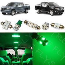 17x Green LED lights interior package kit for 2006-2013 Honda Ridgeline HR1G