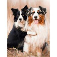 5D DIY Full Drill Diamond Painting Puppies Embroidery Cross Stitch Kits Decors