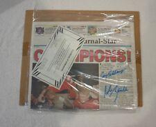 Nebraska Cornhuskers signed National Champions 1995 4 Sig Newspaper