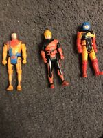 Vintage 1987 Kenner Sky Commanders Lot Of 3 Action Figures 80s 3""