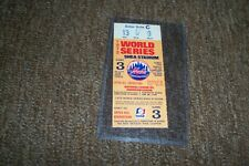 1973 Game 3 NY Mets World Series Ticket Stub