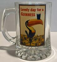 """Vintage Guinness Glass Mug """"Lovely Day For A Guinness"""" Stout Beer Dublin Ireland"""