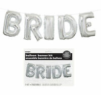 Bride Balloon Banner Kit - Silver - Air Party Decoration Letters Hen Party To Be