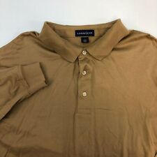 Lands' End T Shirt Men's Size XXL 50-52 Long Sleeve Light Brown Collared Neck