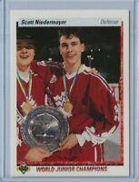 1990 Upper Deck Scott Niedermayer rookie card